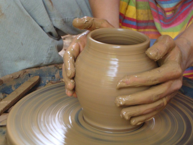 CRAFTS FROM NATURAL MATERIALS OF CLAY