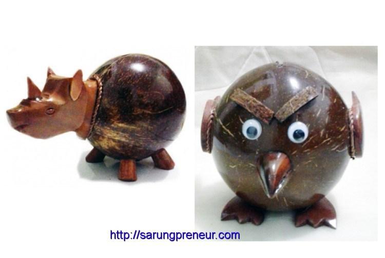 Coconut Shell Craft Animal Shape