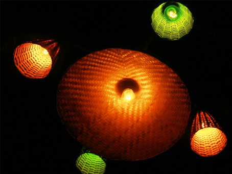 DECORATIVE LIGHTS OF VARIOUS WOVEN BAMBOO CRAFT2