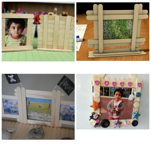 MAKE A PICTURE FRAME OF ICE CREAM STIK