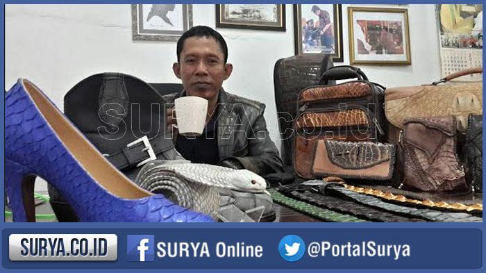 Success Looking Craft Leather Bag Reptiles in Krian; Take advantage of Leather Waste