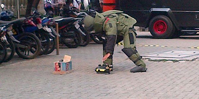 Suspected bomb, the contents of the bag uniform and diplomas make tantrum citizens Palangkaraya