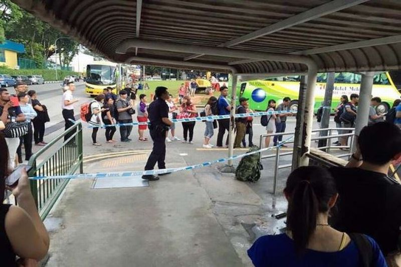 Suspicious bag Create Panic Singaporeans