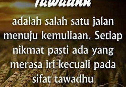 Sikap Merendah Tanpa Menghinakan Diri (Tawadhu')